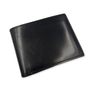 K.T.Lewiston KTルイストン 二つ折り財布 シェルコードバン 純札入れ ショートウォレット ネイビー 紺  レザー 革  中古 18000408 classic
