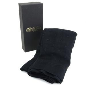 未使用 GLADHAND グラッドハンド ストール GH-BANDANA STOLE バンダナ モノグラム ブラック 黒  メンズ 小物  中古 18000502|classic