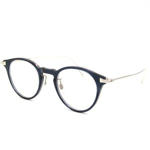 OLIVER PEOPLES オリバーピープルズ メガネフレーム ELDON 0OV5390D ラウンド 1662/ネイビー×シルバー 度入り メガネ 眼鏡  中古 18000530 classic