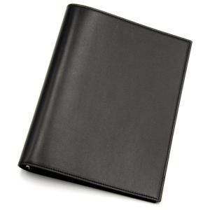 良品 kanda misako カンダミサコ システム手帳 A5サイズ クリスペルカーフ 6穴 手帳カバー ブラック 黒  レザー 革  中古 18000533 classic