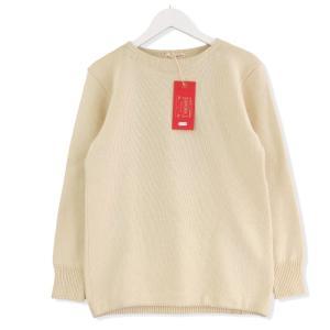 美品 BONCOURA ボンクラ シーマンズセーター ニット アイボリー 36 メンズ  中古 20012422|classic