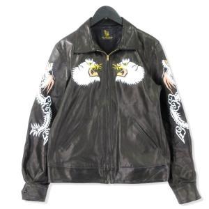 FINE CREEK LEATHERS ファインクリークレザーズ スカジャン ホースハイド Norfolk 馬革 レザージャケット ブラック 黒 L メンズ  中古 20012440 classic
