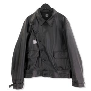 未使用 Porter Classic ポータークラシック 19AW GOAT LEATHER FLIGHT JACKET レザージャケット ブラック 黒 M タグ付き メンズ  中古 20012699|classic