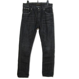 nudie jeans ヌーディージーンズ デニムパンツ Grimm tim NJ3914 加工 ブラック 黒 31 メンズ  中古 27001773 classic