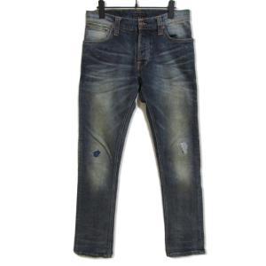 nudie jeans ヌーディージーンズ デニムパンツ Grimm tim D0142 グリムティム 加工 インディゴ 31 メンズ  中古 27001965 classic
