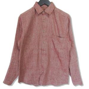 FRANK LEDER フランクリーダー 長袖シャツ リネン ウールシャツ 0626068  ピンク XS メンズ  中古 27002313 classic
