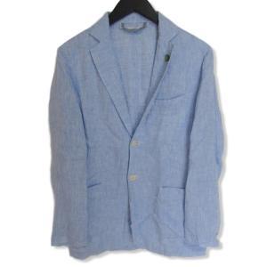 G.Inglese ジイングレーゼ テーラードジャケット 2釦 リネン  ブルー 青 46 メンズ  中古 27002437|classic