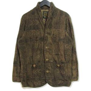 GYPSY&SONS ジプシーアンドサンズ ニットジャケット ショールカラー パイル地  ブラウン 茶 2 メンズ  中古 27002601|classic
