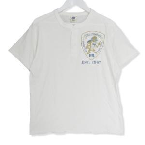 美品 TOYS McCOY トイズマッコイ 半袖Tシャツ FIRE RESCUE CVFD TMC1610 タスマニアンデビル ヘンリーネック ホワイト XL メンズ  中古 27002680|classic