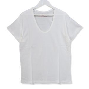 未使用 BONCOURA ボンクラ 半袖Tシャツ Uネック Tee ホワイト 白 40 メンズ  中古 27002761|classic
