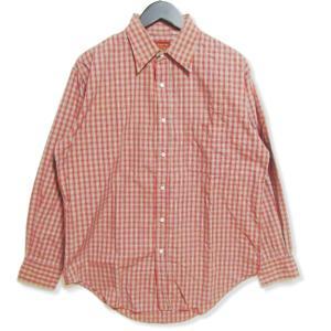 SUGAR CANE シュガーケーン 長袖チェックシャツ 薄手 コットン 古着 東洋 TOYO レッド 赤 M メンズ  中古 27002838|classic