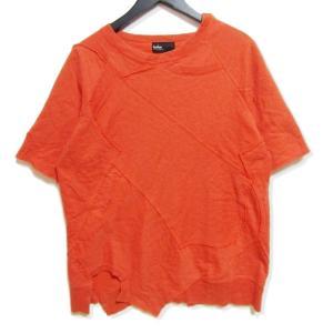 kolor カラー 半袖スウェット 無地 再構築 オレンジ 1 メンズ  中古 27002933 classic