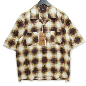 未使用 ANDFAMILYS アンドファミリー 半袖チェックシャツ SHH-1902552 オープンカラー イエロー 38 タグ付き メンズ  中古 27002974|classic