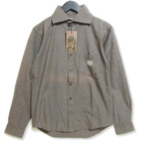 GANGSTERVILLE ギャングスタービル 長袖ワークシャツ GSV-14-SS-19  グレー S タグ付き メンズ  中古 27003149|classic
