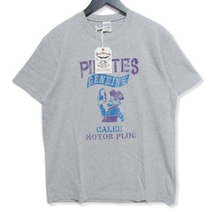 未使用 CALEE キャリー 半袖Tシャツ CL-19SS082 PIRATES T-SHIRT グレー L タグ付き メンズ  中古 27003179|classic