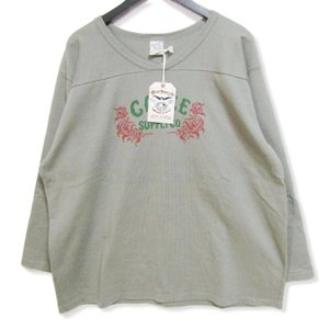 未使用 CALEE キャリー 七分袖Tシャツ CL-19AW007 V neck 3/4 sleeve football t-shirt グレー XL タグ付き メンズ  中古 27003192|classic