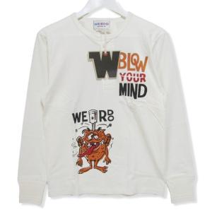 良品 WEIRDO ウィアード 長袖Tシャツ WRD-18-AW-29 L/S TEE LOVER RIDE ヘンリーネックTee ホワイト 白 S タグ付き メンズ  中古 27003629|classic