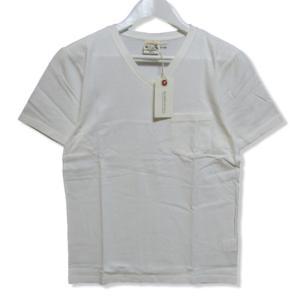 未使用 GLAD HAND グラッドハンド 半袖Tシャツ GLADHAND-06 Vネック パックシリーズ 無地 Tee ポケット ホワイト 白 S メンズ  中古 27003835|classic