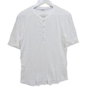 Schiesser シーサー 半袖Tシャツ ヘンリーネック Karl-Heinz カールハインツ 無地 カットソー ホワイト 白 4 メンズ  中古 27003860|classic