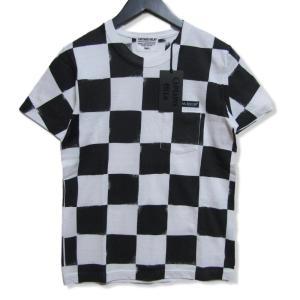 未使用 CAPTAINS HELM キャプテンズヘルム 半袖Tシャツ CH19-SP-T14 CHEKER SS TEE ホワイト ブラック 白黒 S タグ付き メンズ  中古 27003911|classic