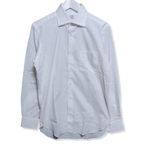 美品 麻布テーラー アザブテーラー ワイシャツ ワイドカラー スリムフィット 日本製 無地 長袖 ホワイト 白 39 メンズ  中古 27003983|classic