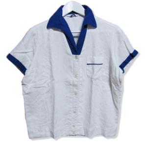 KINGPIN キングピン 半袖シャツ ボーリングシャツ オープンカラー shirt 無地 ポケット ホワイト 白 40 メンズ  中古 27004007|classic