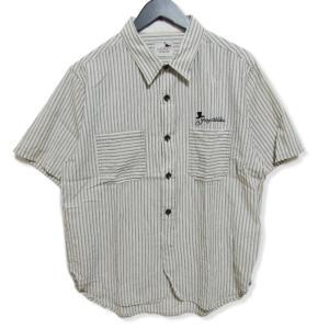 GANGSTERVILLE ギャングスタービル 半袖ワークシャツ ストライプ GSV-13-SS-25 カバーオール 柄 プリント ホワイト 白 XL メンズ  中古 27004128|classic