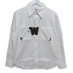 未使用 WEIRDO ウィアード Wolf Bait L/S Shirts WRD-19-SS-24 長袖ワークシャツ カバーオール 刺繍 ホワイト白 M タグ付き メンズ 中古 27004269|classic