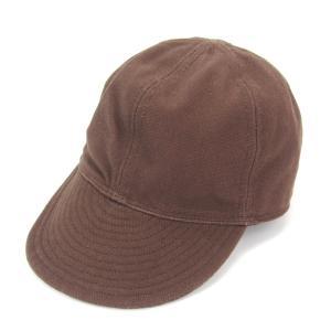TCB Jeans ティーシービージーンズ ワークキャップ 1940 無地 コットン100% 綿 CAP ブラウン 茶  帽子 メンズ  中古 28002392|classic