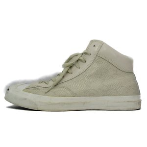 CONVERSE コンバース JACK PURCELL MID SK-LEAT 100周年記念モデル スネークスキン  WHITE 28cm  箱付スニーカー  中古 45000450 classic