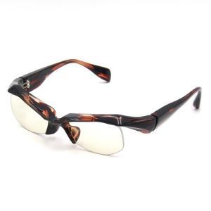 良品 FACTORY900 ファクトリー900 サングラス FA-208 ブロウ ハーフリム ナイロール 147/Brown Sasa/ブラウンササ メガネ 眼鏡  中古 50009459 classic