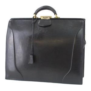 Le bonheur ルボナー ダレスバッグ 太マチ 枠錠 ビジネスバッグ ブリーフケース ブラック 黒 ブッテーロ レザー  バッグ 鞄  中古 60005889 classic