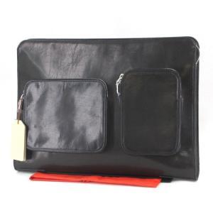 未使用 aniary アニアリ クラッチバッグ 11-08002 セカンドバッグ ブラック 黒 ニューアイディアルレザー  バッグ 鞄 中古 60005947|classic