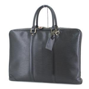 Louis Vuitton ルイヴィトン ブリーフケース エピ ポルトドキュマン ヴォワヤージュ ビジネスバッグ 難有 ブラック 黒  バッグ 鞄  中古 60005961|classic
