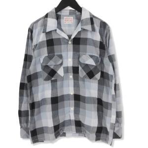 BONCOURA ボンクラ 長袖チェックシャツ ワンナップシャツ  グレー 38 メンズ  中古 70009338|classic