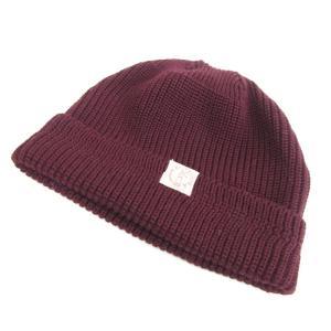 未使用 BONCOURA ボンクラ ニットキャップ ウール ニット帽 バーガンディ  帽子 メンズ  中古 70009513|classic