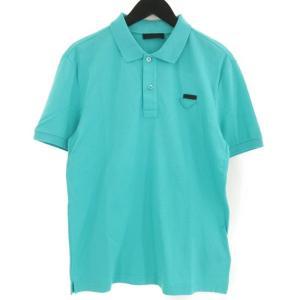 美品 PRADA プラダ 半袖ポロシャツ UJM730 国内正規 トルコ製 グリーン 緑 M メンズ  中古 70009626 classic