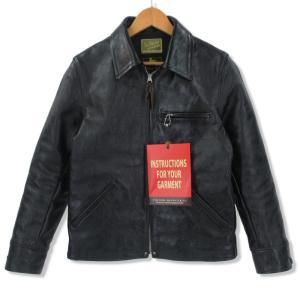 良品 JOE McCOY リアルマッコイズ 30's SPORTS JACKET  MJ14152 レザージャケット 馬革 ホースハイド ブラック 黒 36 メンズ  中古 70010100|classic