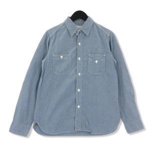 FULL COUNT フルカウント 長袖シャンブレーシャツ 4811-15 TRIPLE STITCH CHAMBRAY L/S SHIRT   ブルー 青 S メンズ  中古 75000038|classic