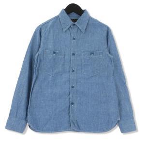 FULL COUNT フルカウント 長袖シャンブレーシャツ 4810EX 25TH ANNIVERSARY ITEM CHAMBRAY SHIRTS   ブルー 青 S メンズ  中古 75000039|classic