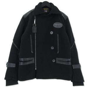 VANSON ショット Pコート ¥ ブラック 黒 M メンズ  中古 75000365|classic