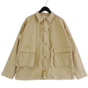 REMI RELIEF レミレリーフ 長袖シャツ レイヤード コットン ダンプポケット ジャケット ベージュ M メンズ  中古 75000383|classic