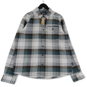 未使用 patagonia パタゴニア 19AW M's LW Fjord Flannel Shirt 54020 長袖チェックシャツ  グレー M メンズ  中古 75000392|classic