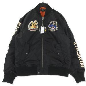 未使用 THE BRAVE MAN ブレイブマン フライトジャケット CSWB-902 ケンケン マオウ L-2B ブラック 黒 XL タグ付き メンズ  中古 75000772|classic