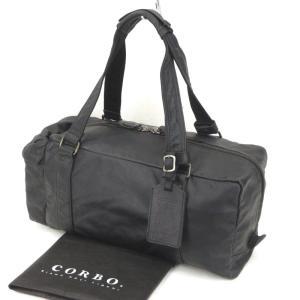 美品 CORBO コルボ ボストンバッグ equines 馬革 イクワインズ L字ファスナー ブラック 黒  バッグ 鞄  中古 90000361|classic