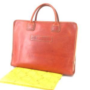 Felisi フェリージ ブリーフケース 9884 レザー キャンバス ビジネスバッグ ブラウン 茶  バッグ 鞄  中古 90000379 classic