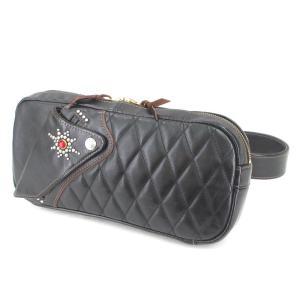 良品 The Flat Head フラットヘッド ショルダーバッグ HDB-003 ホースハイド ボディバッグ ブラック 黒  バッグ 鞄  中古 90000385|classic