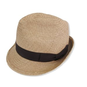 TESI テシ ストローハット 中折れ 麦わら帽子 イタリア製 ベージュ 56 帽子 メンズ  中古 92000220|classic