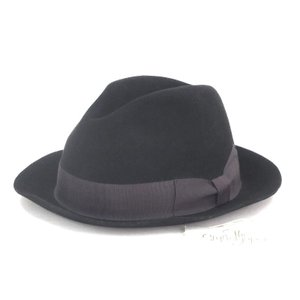 The Stylist Japan × トラヤ帽子店 スタイリストジャパン ラビットファーハット TSJA-29202-01  ブラック 黒 L 帽子 メンズ  中古 92000319|classic