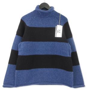 未使用 Mr.GOODMAN ミスターグッドマン ロールネック ニット MGKT-1812022  アンドファミリー セーター ブルー 青 M メンズ  中古 92000428|classic